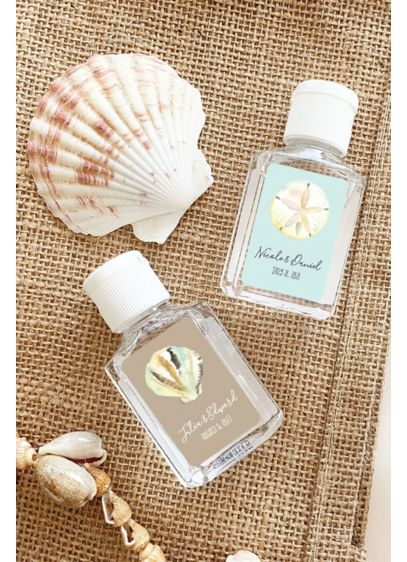 Personalized Beach Theme Hand Sanitizer Favors - Wedding Gifts & Decorations