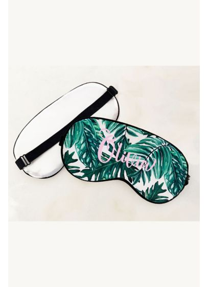 Personalized Palm Leaf Sleep Mask - Wedding Gifts & Decorations