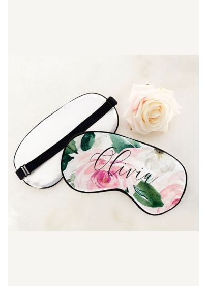 Personalized Floral Sleep Masks - Wedding Gifts & Decorations
