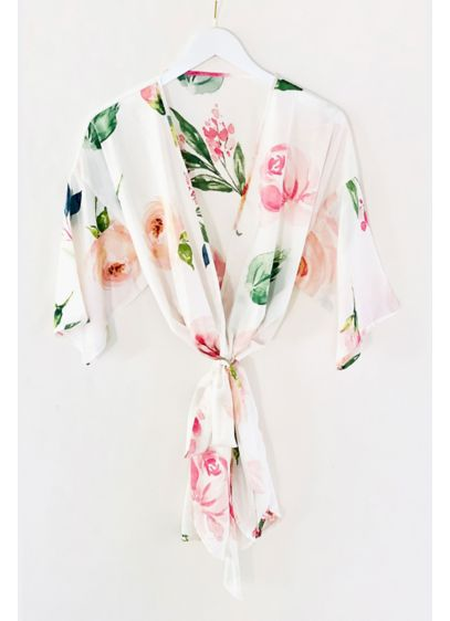 Spring Rose Printed Robe - Wedding Gifts & Decorations