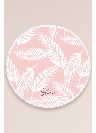 Personalized Tropical Round Towel - Turn pool hangs into a photo-worthy moment with