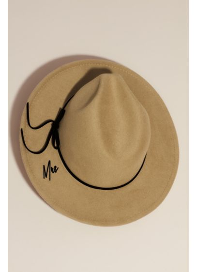 Wool Felt Mrs Hat - A stylish accent for the wedding or honeymoon,