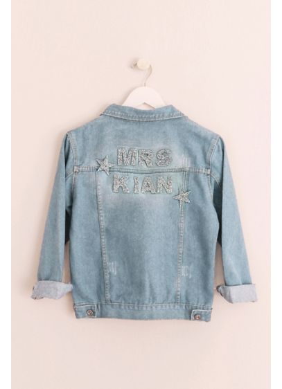 Sparkle and Star Personalized Jean Jacket - Wedding Gifts & Decorations