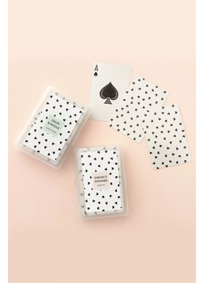 Confetti Heart Personalized Playing Cards - Rummy 500 never looked so sweet! These personalized