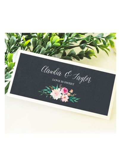 (Personalized Floral Garden Candy Wrapper Covers)