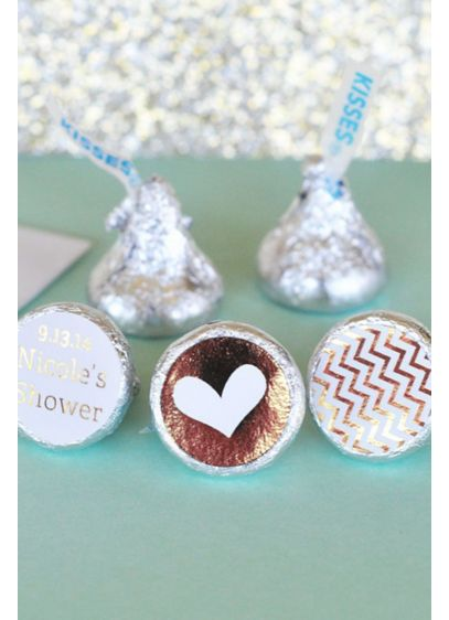 Personalized Metallic Foil  Labels Trio Set of 108 - Wedding Gifts & Decorations