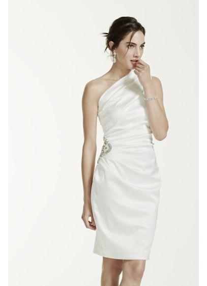 e99650c86f6 DB Studio White (Stretch Satin One Shoulder Dress)
