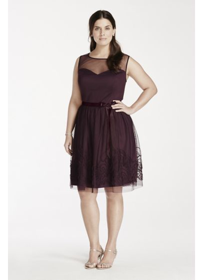 Short A-Line Tank Cocktail and Party Dress - Eliza J