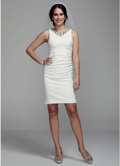 Short Sheath Casual Wedding Dress - DB Studio