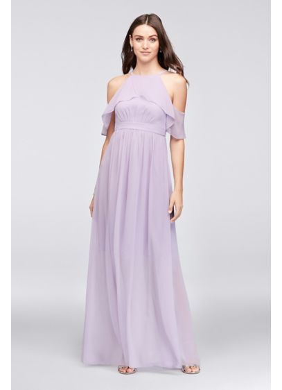 666983f4f91 Long Purple Soft   Flowy Reverie Bridesmaid Dress