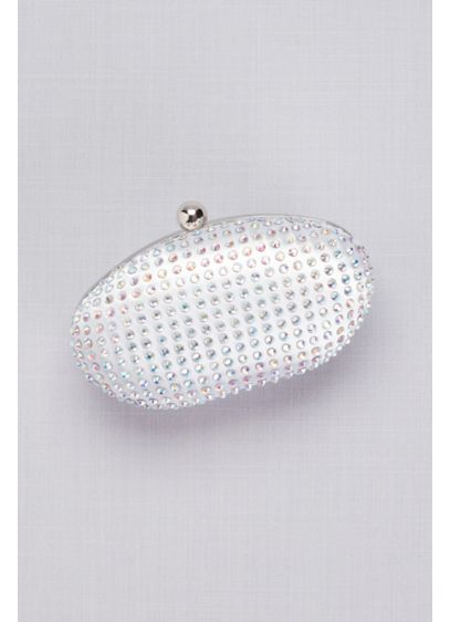 Benjamin Walk White (Dyeable Satin Crystal-Encrusted Minaudiere)