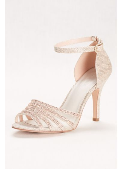 Glitter and Crystal High Heel Sandal - Ready for serious shimmer? Slip on this glamorous