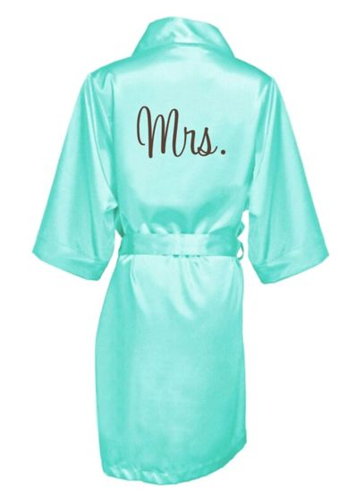 Embroidered Mrs. Satin Robe - Wedding Gifts & Decorations