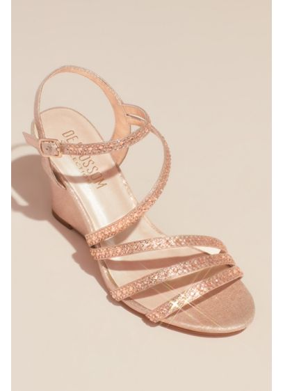 Blossom Pink (Crystal Detailed Strappy Low Wedges)