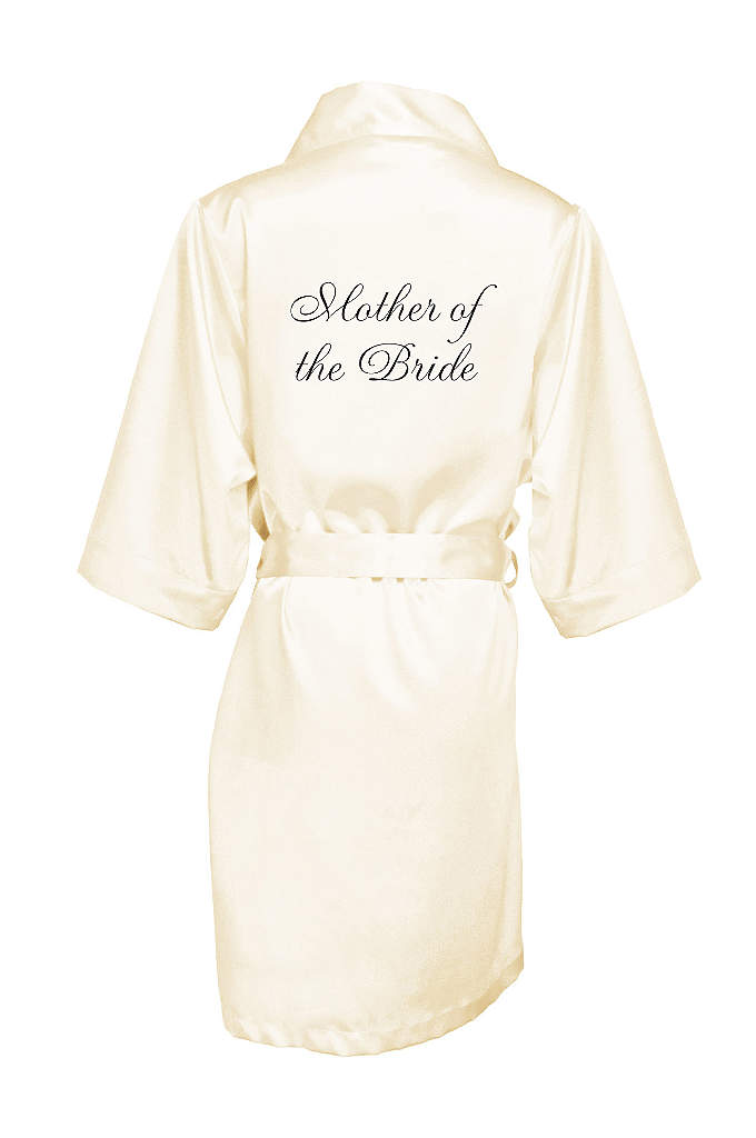 Embroidered Mother of the Bride Satin Robe - Wrap the Mother of the Bride in luxury