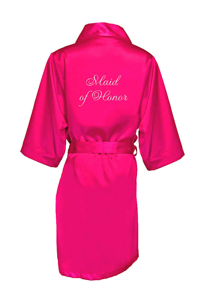 Embroidered Maid of Honor Satin Robe - Wrap your Maid of Honor in luxury in