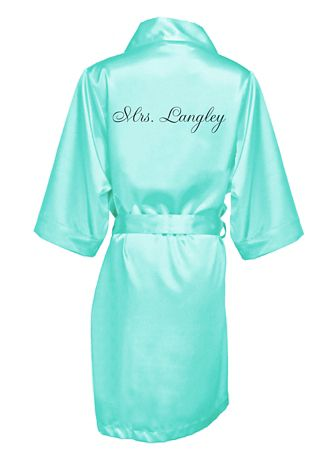 6a96f471f0 Personalized Embroidered Mrs. Satin Robe - Wedding Gifts   Decorations. Save