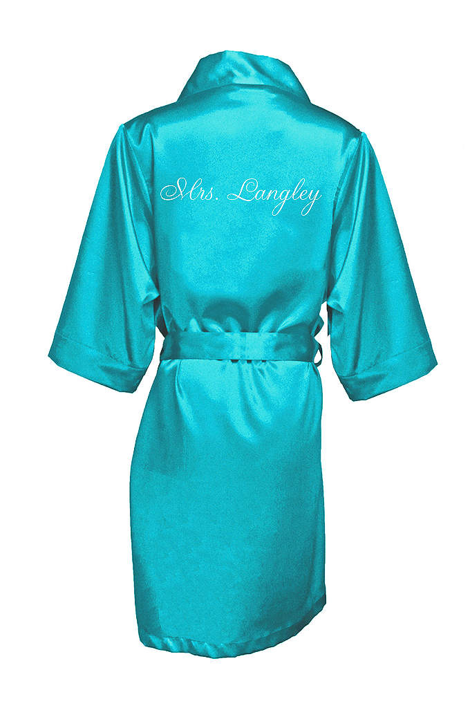 Personalized Embroidered Mrs. Satin Robe - Wrap the new Mrs. in luxury in this