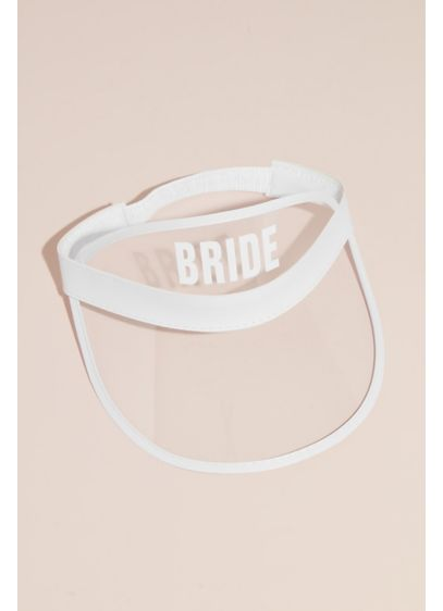 Bride Clear Novelty Visor - Proudly lead your