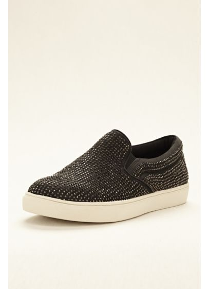 5a663707420 Steve Madden Crystal Embellished Slip On Sneaker