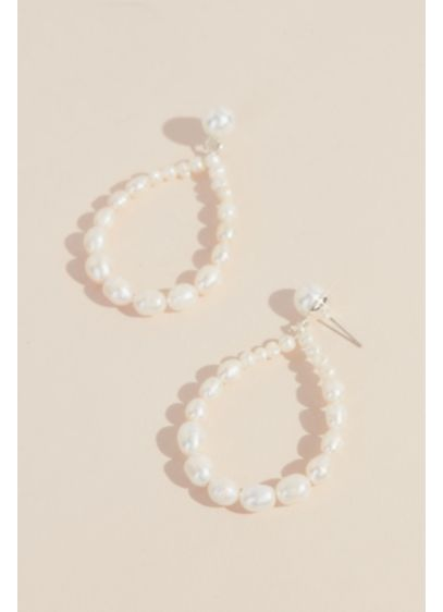 Statement Pearl Teardrop Earrings - Wedding Accessories