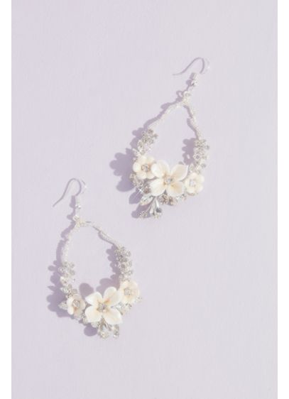 Sparkling Blooms Statement Earrings - Wedding Accessories