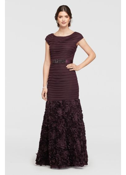 Long Mermaid/ Trumpet Cap Sleeves Cocktail and Party Dress - Emma Street