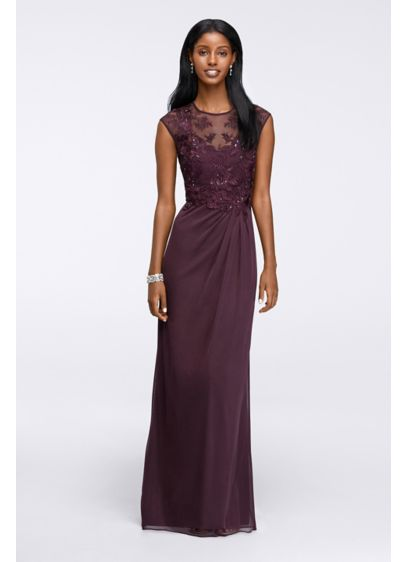 Long Sheath Cap Sleeves Cocktail and Party Dress - Emma Street