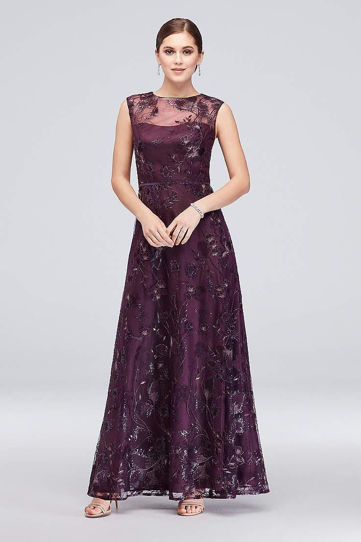 800a4830b2 Long Ballgown Cap Sleeves Dress - Emma Street