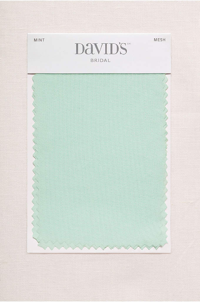 Mint Fabric Swatch - Available in all of David's Bridal's exclusive colors,