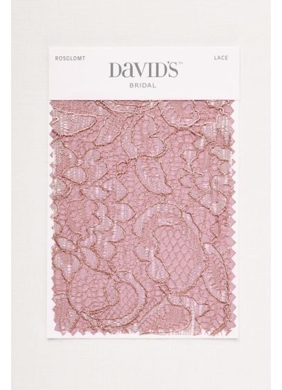 Rose Gold Metallic Fabric Swatch David S Bridal