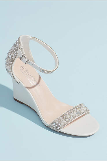 Crystal and Jewel Embellished Wedge Sandals