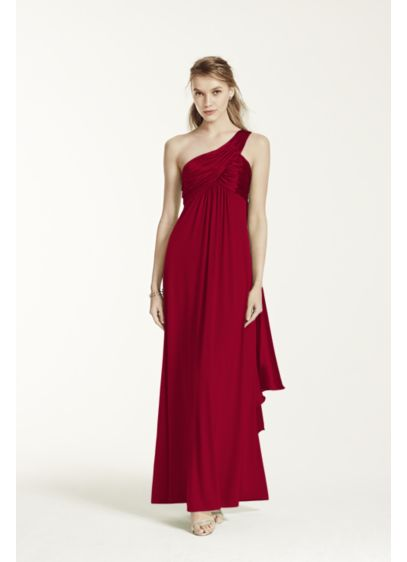137fe06ae4b Long Red Soft   Flowy David s Bridal Bridesmaid Dress
