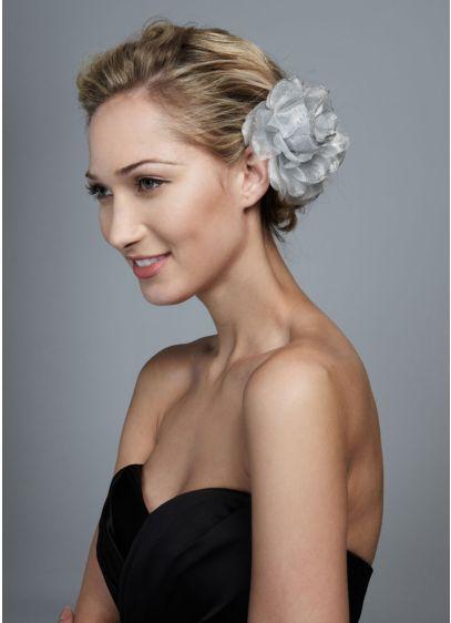 Mesh Flower with Glitter Edge - Wedding Accessories