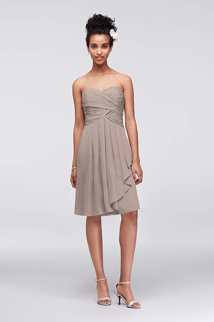 d98b208d951c Ivory Taupe and Nude Bridesmaid Dresses | Davids Bridal