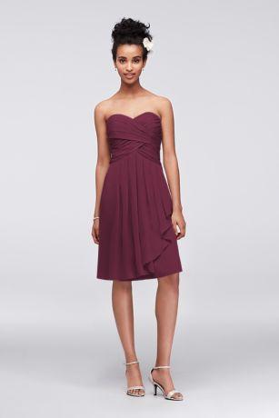 Short Sheath Strapless Dress - David's Bridal