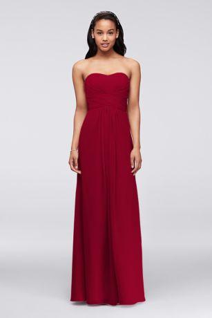Long A-Line;Sheath Strapless Dress - David's Bridal