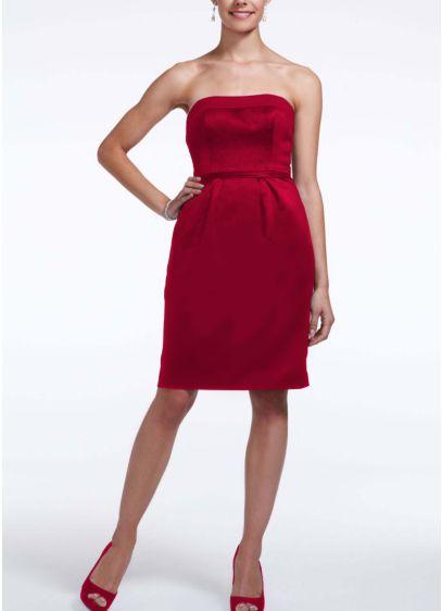 Short Sheath Strapless Dress -