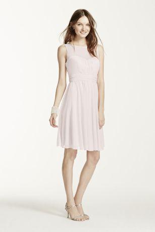 Mesh Neck Dress