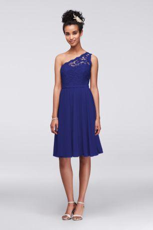 8d8136cb34 Soft   Flowy Structured David s Bridal Short Bridesmaid Dress