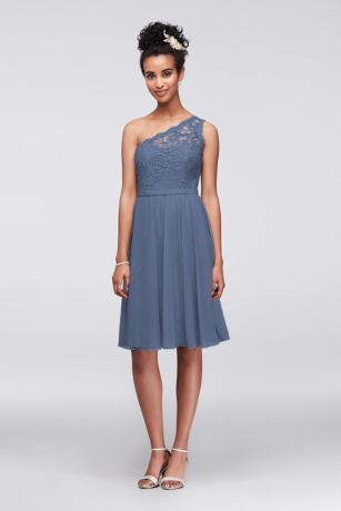 d2d0d3b88db Soft   Flowy Structured David s Bridal Short Bridesmaid Dress