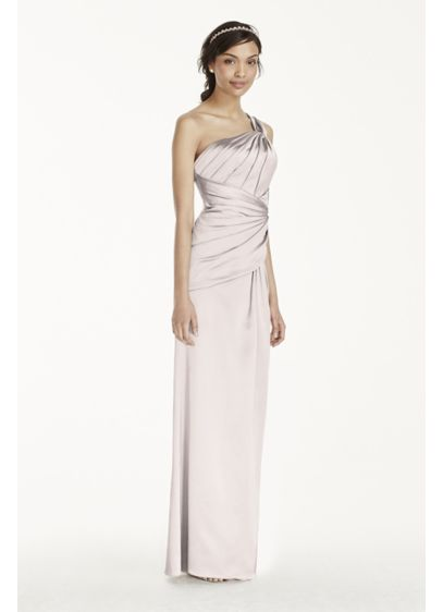 Long Pink Structured Bridesmaid Dress