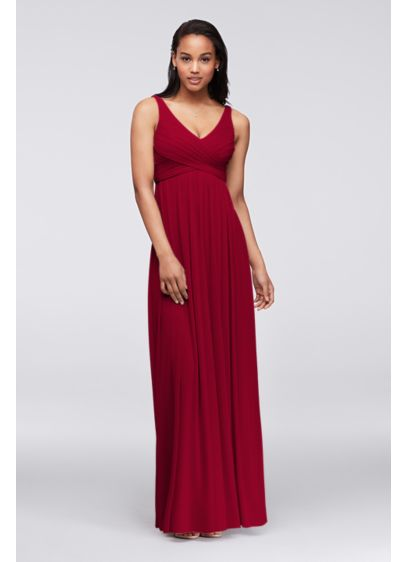 2628e2fe8ea2 Long Red Soft   Flowy David s Bridal Bridesmaid Dress