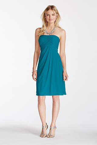 Teal Bridesmaid Dresses: Short & Long Styles | David\'s Bridal