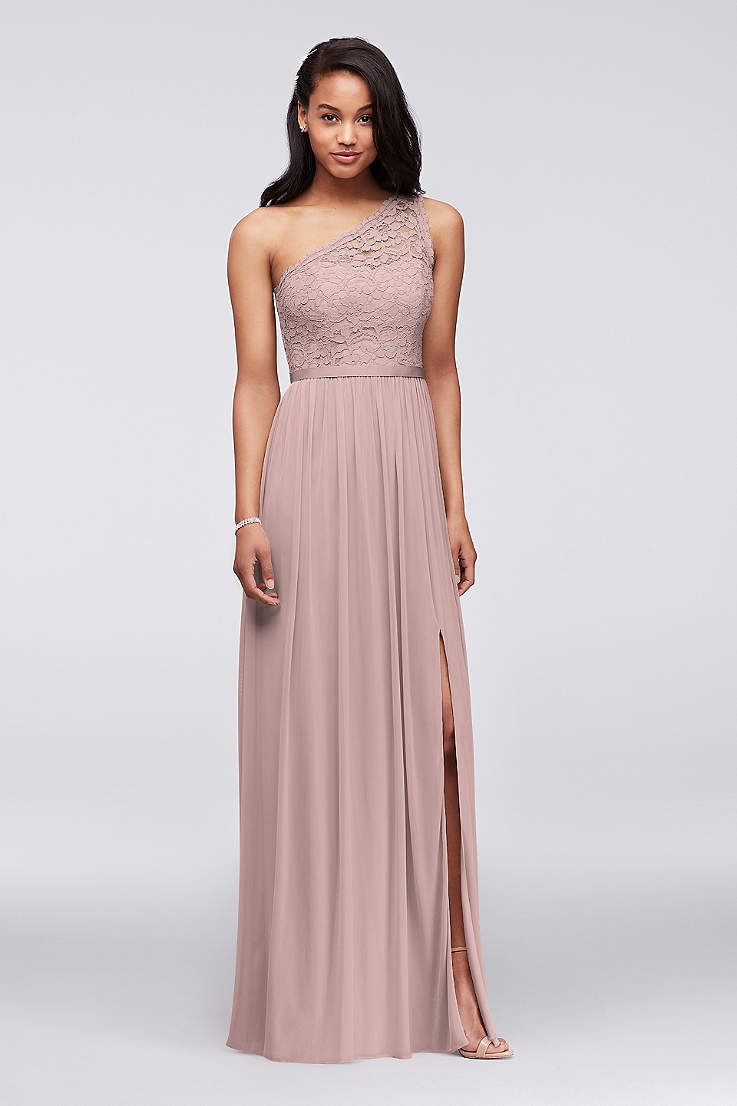 ee7a7e413cc4 Soft & Flowy;Structured David's Bridal Long Bridesmaid Dress