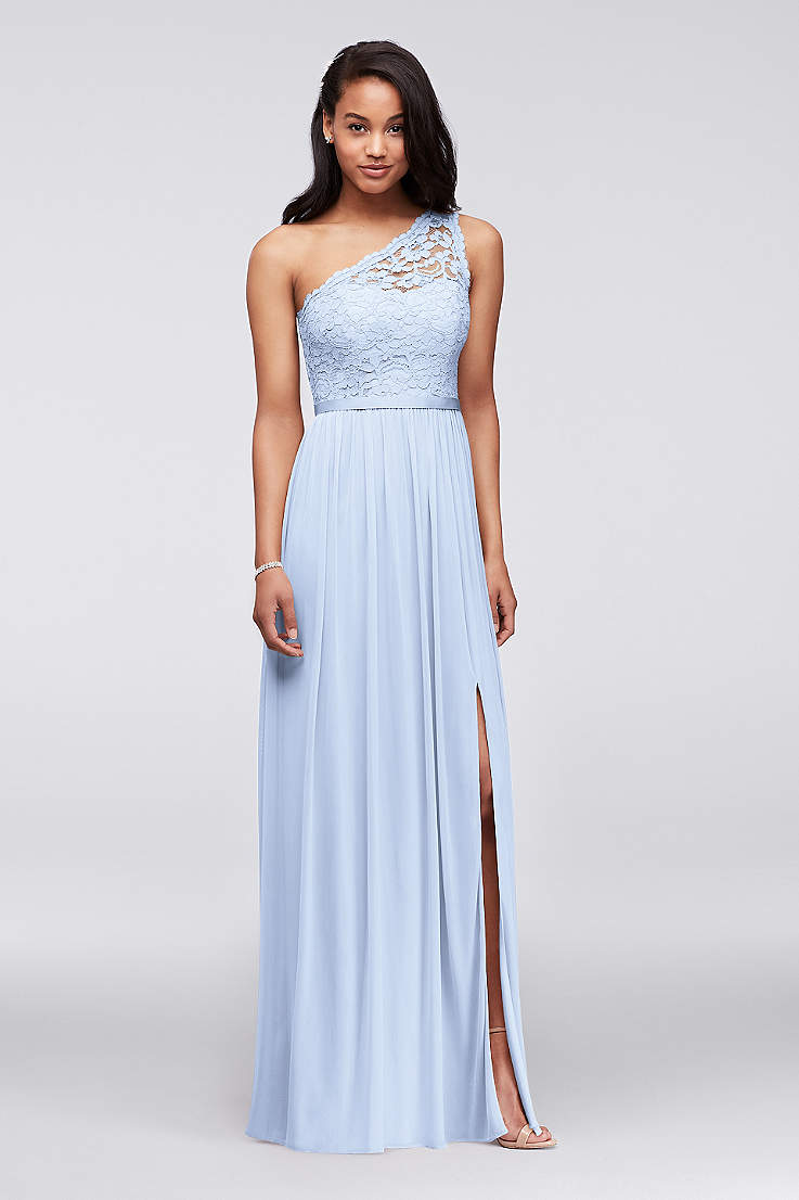 20c567be27713 Soft & Flowy;Structured David's Bridal Long Bridesmaid Dress