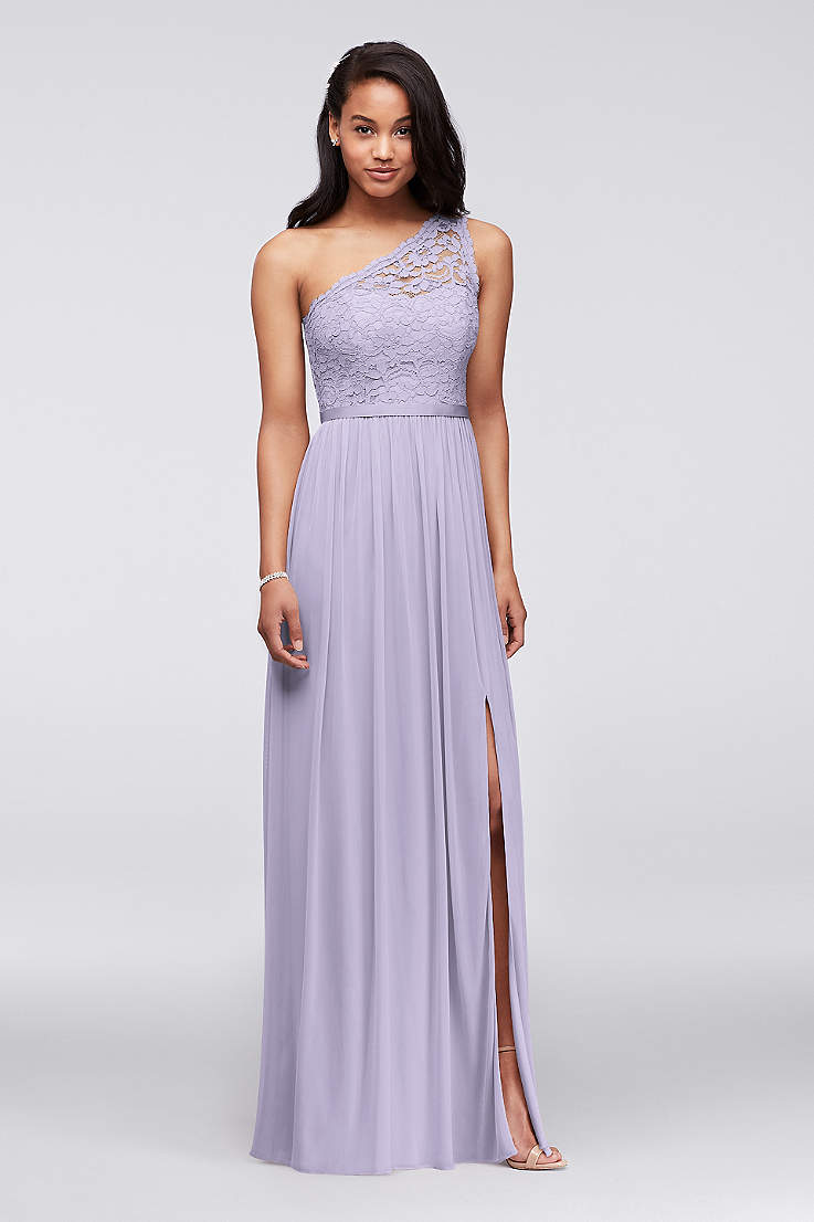 73b617589858 Soft & Flowy;Structured David's Bridal Long Bridesmaid Dress