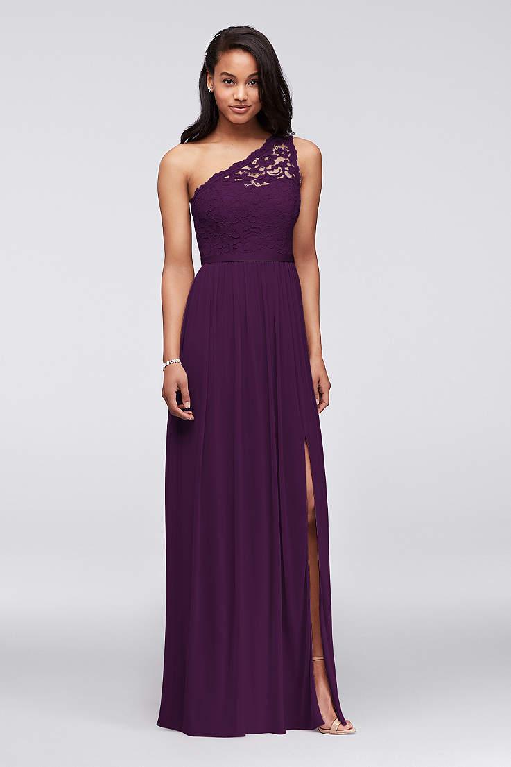 Purple Bridesmaid Dresses Light Dark Colors David S Bridal,Formal Summer Beach Wedding Guest Dresses