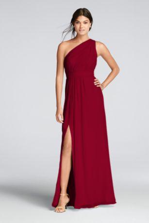 Chiffon Dress David's Bridal Pewter