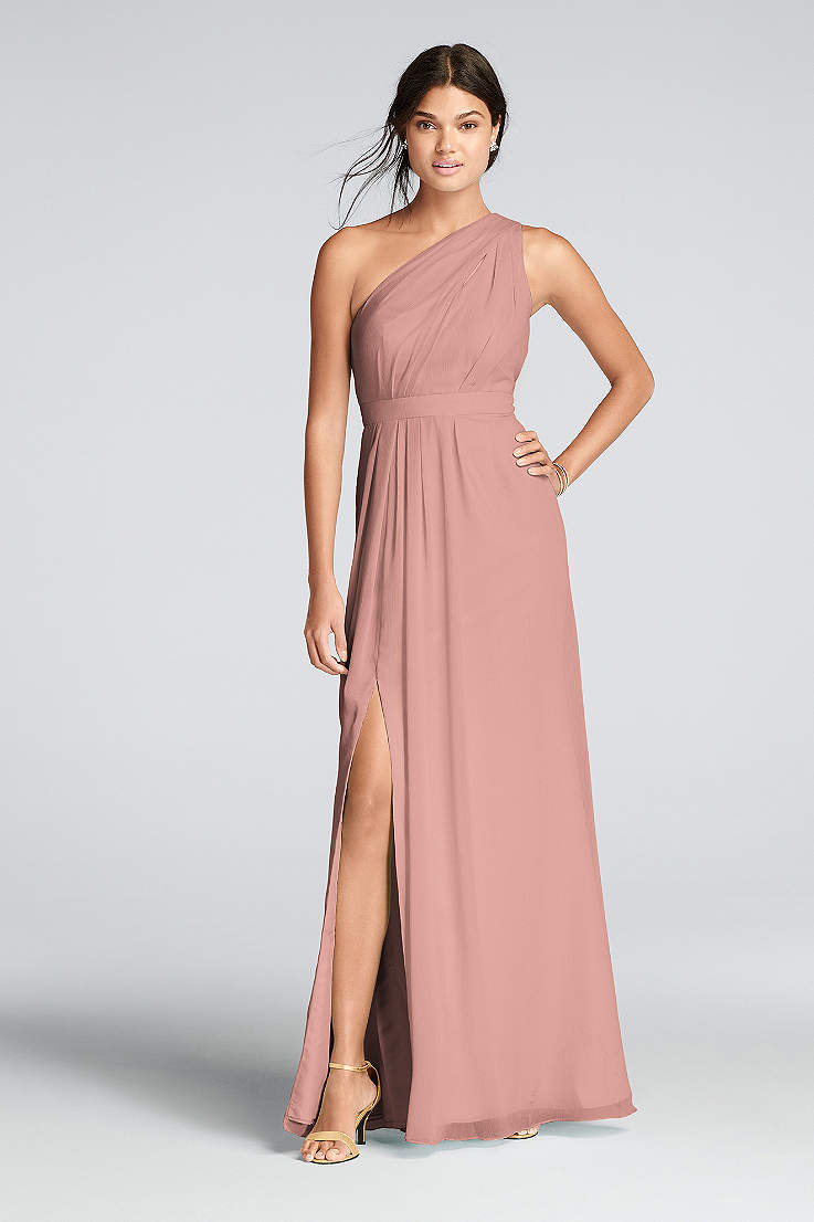 66947a3a59b Soft   Flowy David s Bridal Long Bridesmaid Dress